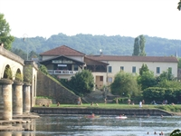 View of the hotel from the river